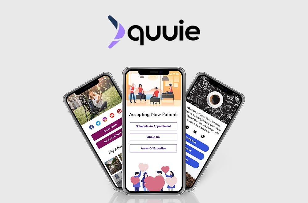 Quuie – Build Websites From Your Phone In Minutes
