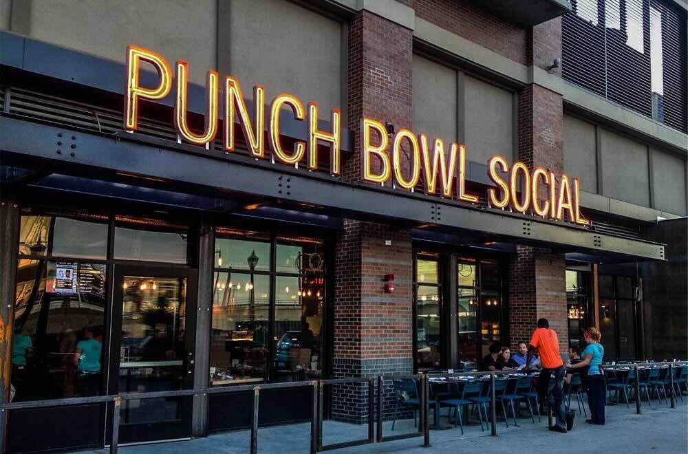 Punch Bowl Social a Restaurant Chain Startup Offers Arcade Games, Karaoke, Food, Craft Cocktails and Entertainment Concept