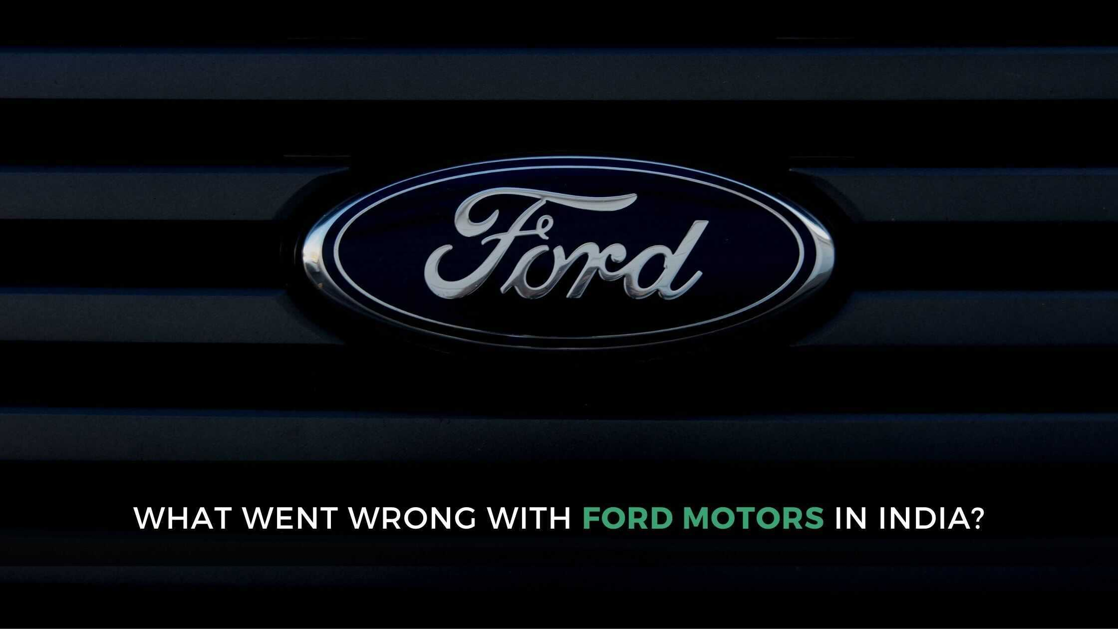 ford motor company news in India